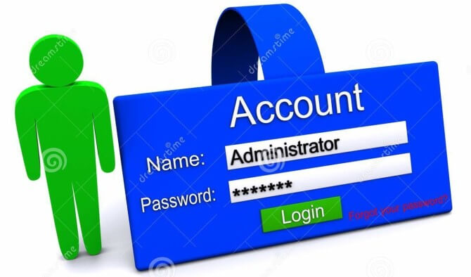 how to get back the administrator account