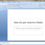 Esercizi PowerPoint- Presentazioni