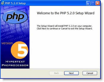 install PHP