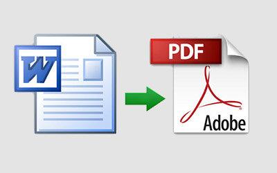 Da Word a PDF e altri formati