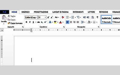 Inserire testo in un documento