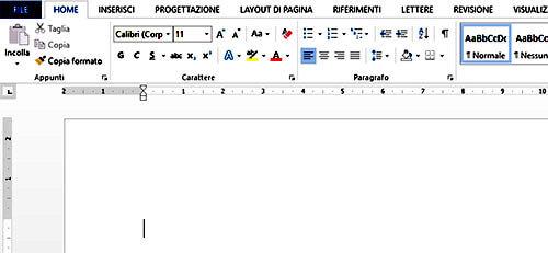 Inserire testo in un documento Word