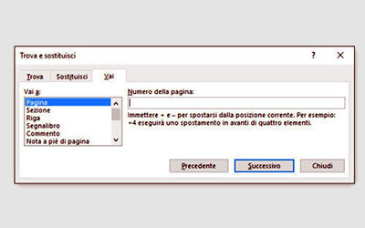 Navigare in un documento Word